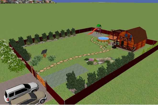 Создам 3D визуализацию ландшафта 3 - kwork.ru