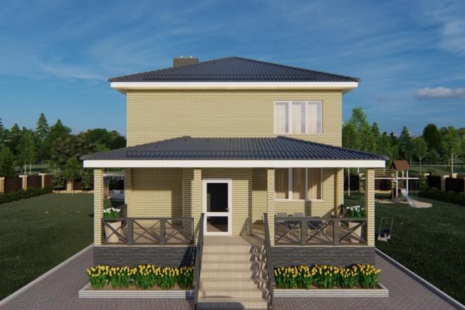 Фотореалистичная 3D визуализация экстерьера Вашего дома 73 - kwork.ru