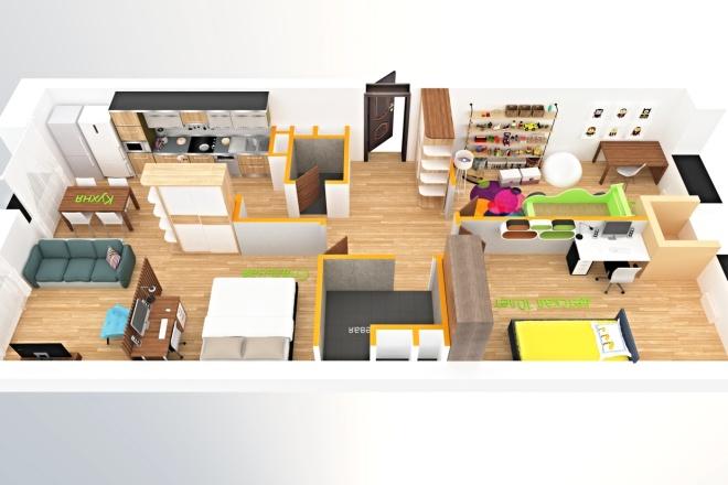 3D модель + визуализация 3 - kwork.ru