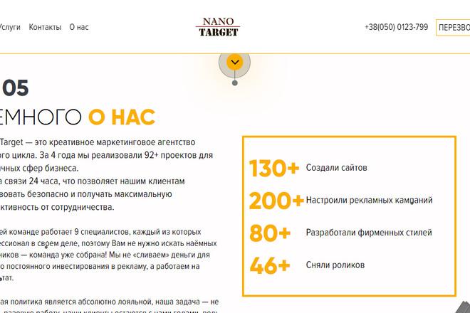 Качественная копия лендинга с установкой панели редактора 13 - kwork.ru