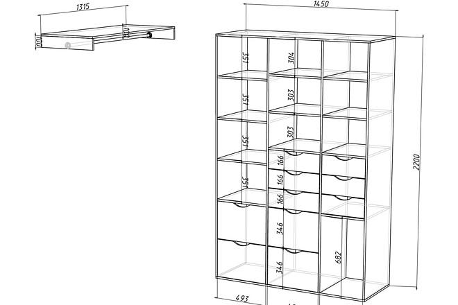 Конструкторская документация для изготовления мебели 84 - kwork.ru