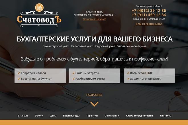 Скопирую Landing Page, Одностраничный сайт 95 - kwork.ru