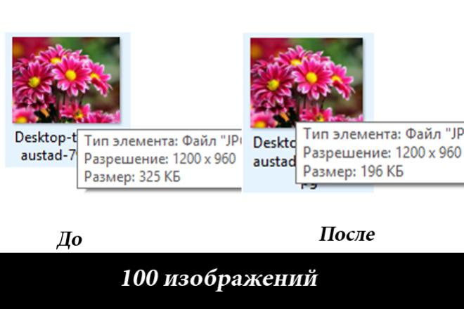 Изменю размер ваших фотографий без от 40% без потери качества 1 - kwork.ru