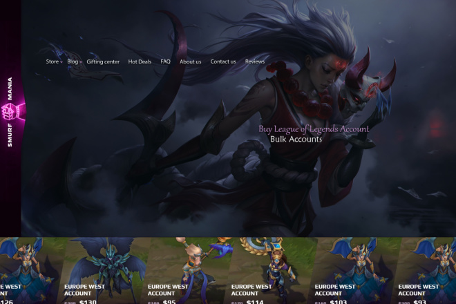 Дизайн страницы сайта в PSD 21 - kwork.ru
