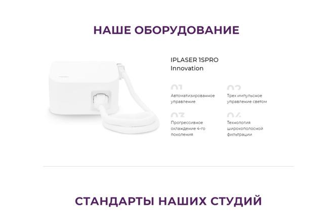 Создание Landing Page, одностраничный сайт под ключ на Tilda 18 - kwork.ru