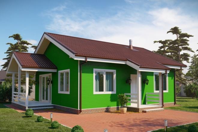 3д моделирование и визуализация экстерьеров домов 9 - kwork.ru