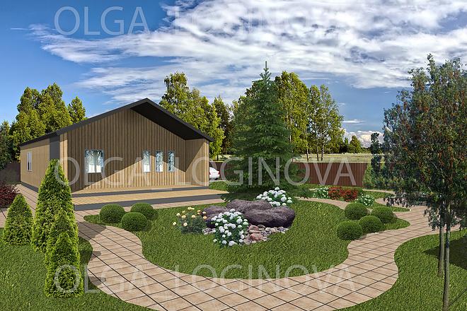 Проект ландшафтного дизайна участка 13 - kwork.ru