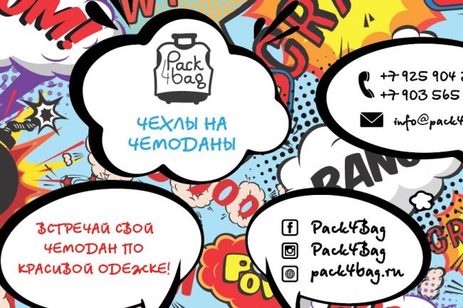 Дизайн визитки 35 - kwork.ru