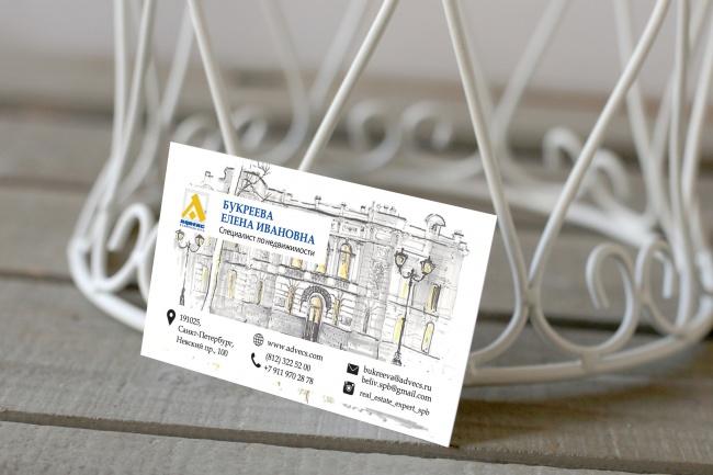 Дизайн визитки 30 - kwork.ru