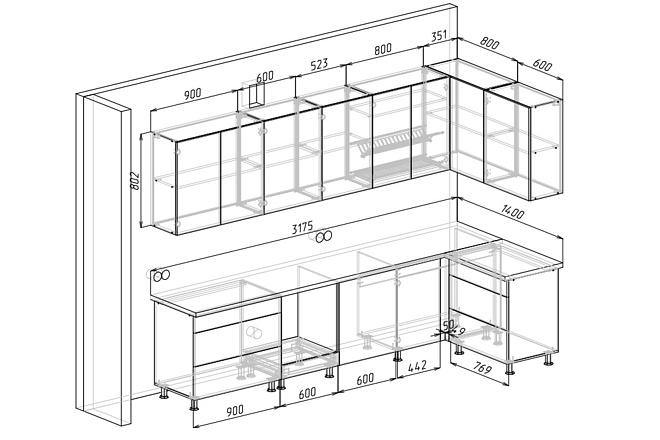 Визуализация мебели, предметная, в интерьере 47 - kwork.ru