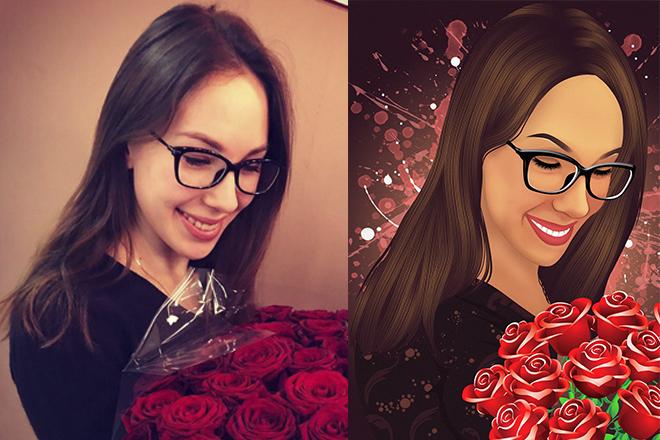 Векторный портрет 7 - kwork.ru