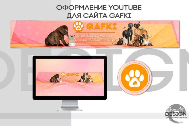 Оформление канала Ютуб. Дизайн шапки Youtube 13 - kwork.ru