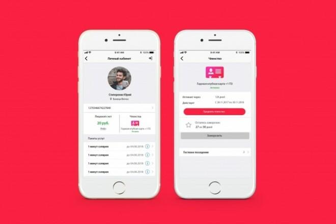 Дизайн двух экранов мобильного приложения 6 - kwork.ru