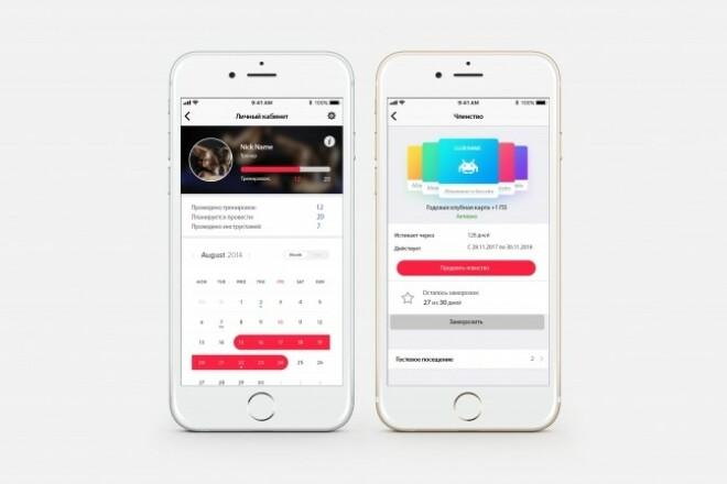 Дизайн двух экранов мобильного приложения 3 - kwork.ru