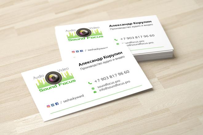 Дизайн визитки с исходниками 7 - kwork.ru