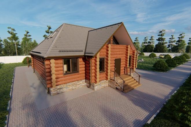 Фотореалистичная 3D визуализация экстерьера Вашего дома 96 - kwork.ru
