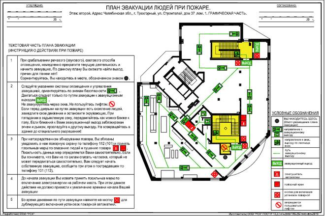 План эвакуации 3 - kwork.ru