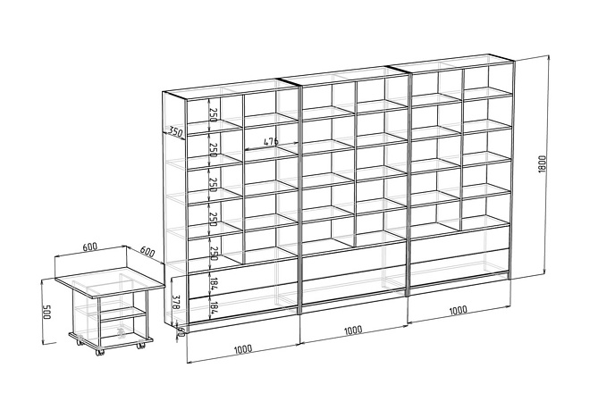 Визуализация мебели, предметная, в интерьере 36 - kwork.ru