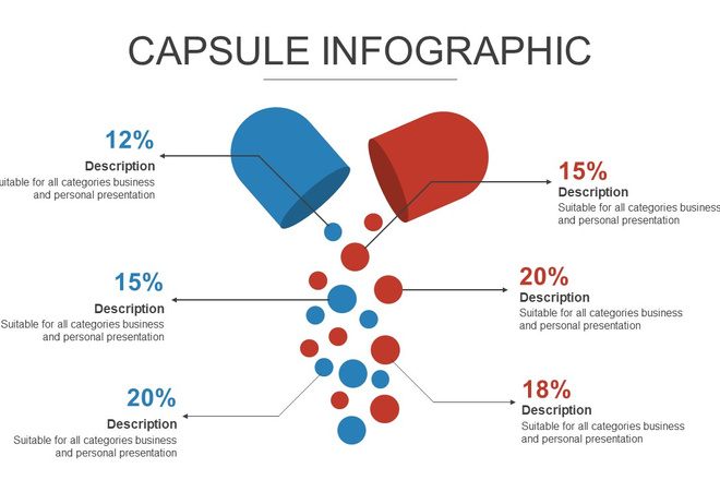 Инфографика на медицинскую тему. Шаблоны PowerPoint 7 - kwork.ru