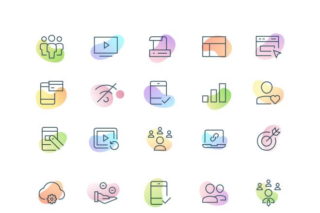 До 10 иконок или кнопок для проекта 4 - kwork.ru