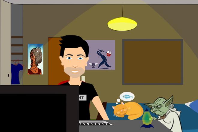 Анимация, рекламный ролик, продающий мультфильм 1 - kwork.ru