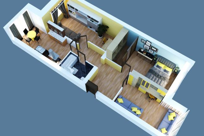 Объемно - планировочная схема, 3D 4 - kwork.ru