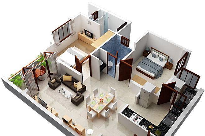 3d визуализация квартир и домов 14 - kwork.ru