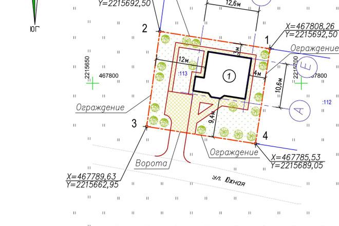 Схема планировочной организации земельного участка - спозу 2 - kwork.ru