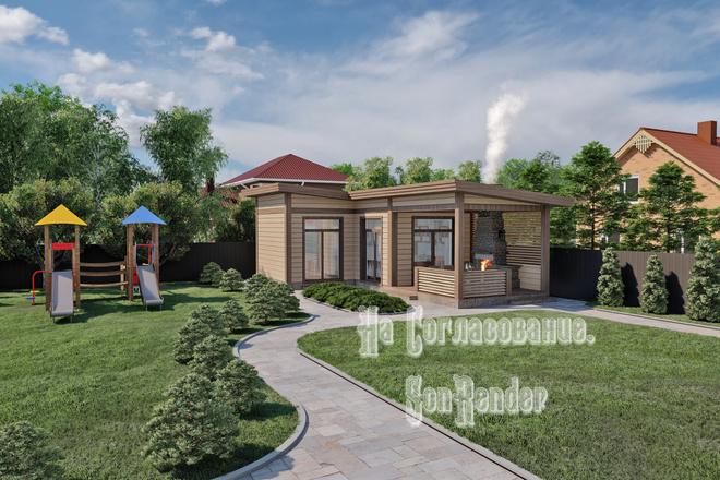 Фотореалистичная 3D визуализация экстерьера Вашего дома 2 - kwork.ru