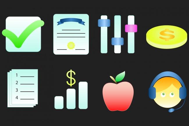 Создание иконок для сайта, приложения 57 - kwork.ru