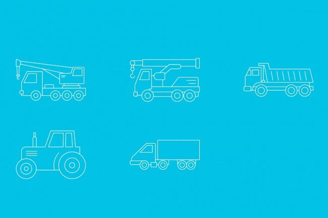 Создание иконок для сайта, приложения 54 - kwork.ru