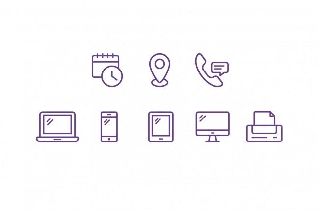 Создание иконок для сайта, приложения 33 - kwork.ru