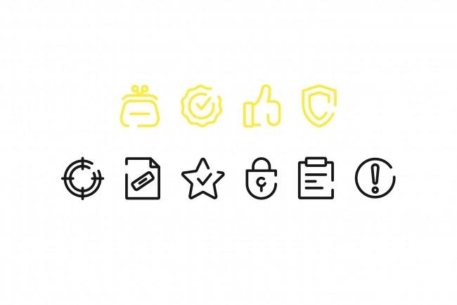 Создание иконок для сайта, приложения 30 - kwork.ru