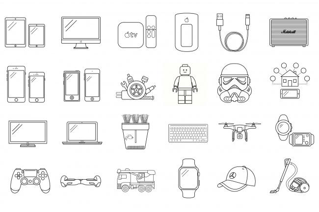 Создание иконок для сайта, приложения 58 - kwork.ru