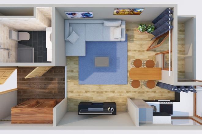 Оцифровка плана этажа, перечерчивание плана дома в Archicad 6 - kwork.ru