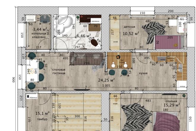 Интересные планировки квартир 14 - kwork.ru