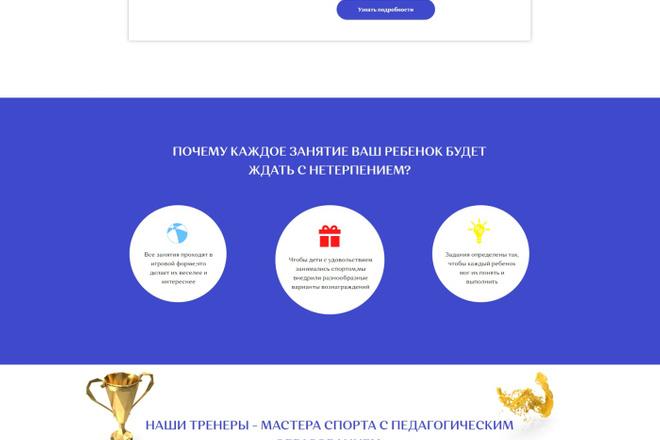 Создание современного лендинга на конструкторе Тильда 22 - kwork.ru
