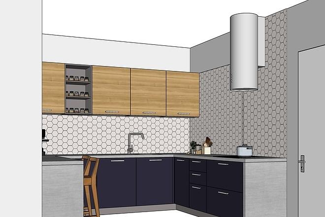 Дизайн-проект кухни. 3 варианта 15 - kwork.ru