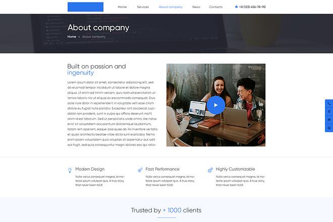 Дизайн страницы сайта 69 - kwork.ru