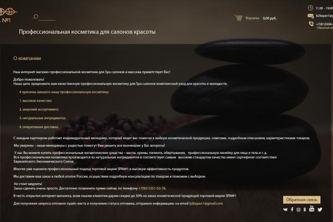 Дизайн страницы сайта в PSD 6 - kwork.ru
