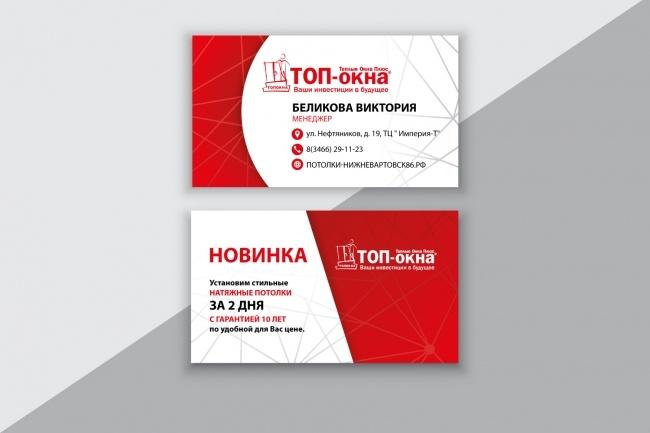 Разработаю макет визитки 59 - kwork.ru