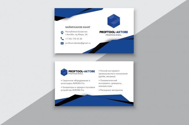 Разработаю макет визитки 60 - kwork.ru
