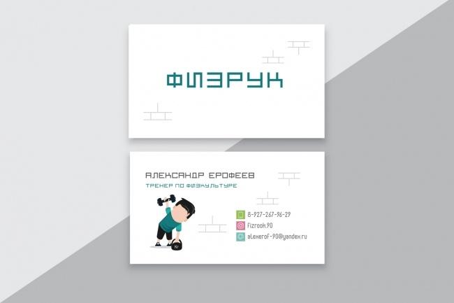 Разработаю макет визитки 39 - kwork.ru