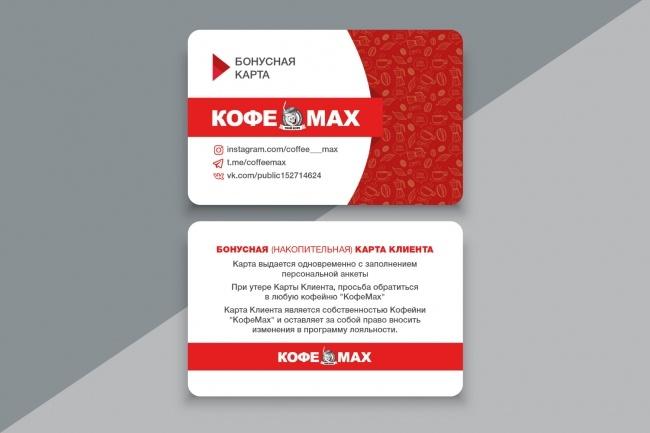 Разработаю макет визитки 30 - kwork.ru
