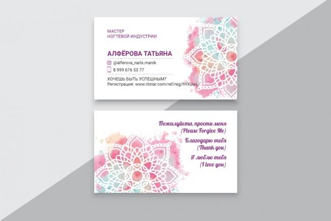 Разработаю макет визитки 12 - kwork.ru