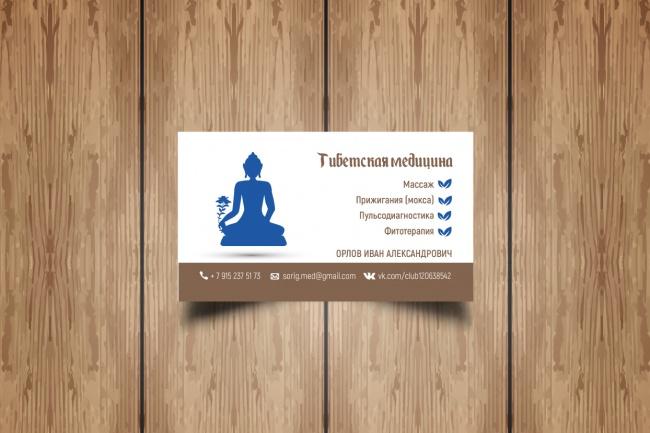 Разработаю макет визитки 100 - kwork.ru
