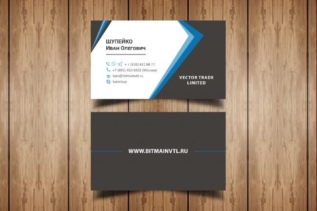 Разработаю макет визитки 76 - kwork.ru