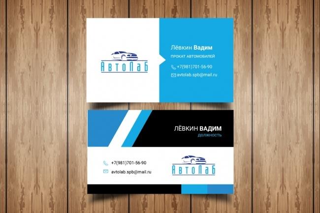 Разработаю макет визитки 91 - kwork.ru