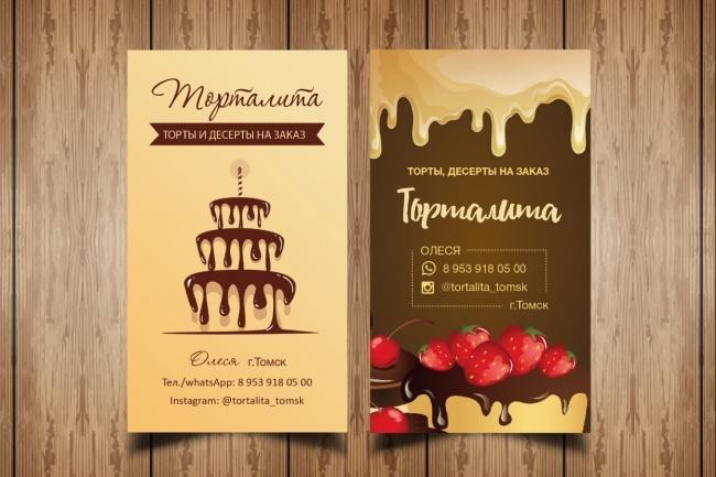 Разработаю макет визитки 66 - kwork.ru