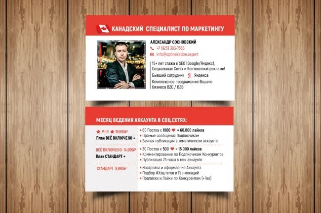 Разработаю макет визитки 77 - kwork.ru
